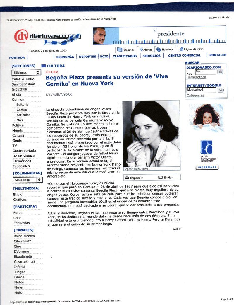 Press : Spanish Basque