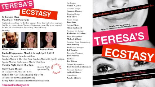 Postcard Teresa's Ecstasy 2012